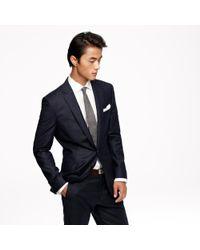 J.Crew - Blue Ludlow Suit Jacket With Double Vent In Glen Plaid Italian Wool Flannel for Men - Lyst