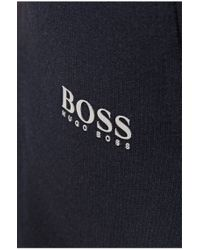 BOSS Green | Blue 'halvo' Cotton Tracksuit Bottoms for Men | Lyst