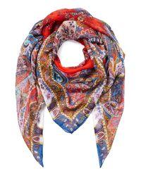 Etro | Multicolor Paisley Print Silk Scarf | Lyst
