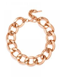 BaubleBar | Pink Jumbo Curb Links | Lyst