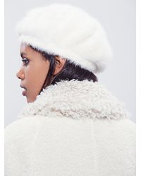 Free People | White Silver Linings Beret | Lyst