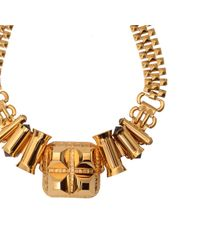 Scott Wilson | Metallic Studded Barrel Necklace | Lyst