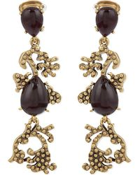 Oscar de la Renta | Metallic Filigree Drop Earrings - For Women | Lyst