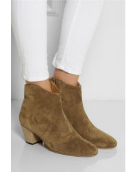 Isabel Marant | Brown The Dicker Suede Ankle Boots | Lyst