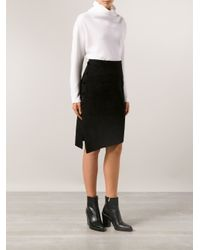 Maiyet - Black Suede Skirt - Lyst