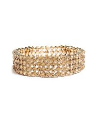 Tasha | Metallic Jeweled Stretch Bracelet | Lyst