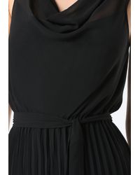 Bebe - Black Pleated Wide Leg Jumpsuit - Lyst