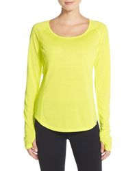 Under Armour | Yellow 'fly By' Top | Lyst