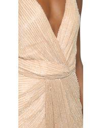 Parker - Natural Black Monarch Silk Gown - Grey - Lyst