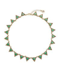 House of Harlow 1960 | Green Geo Collar Necklace | Lyst