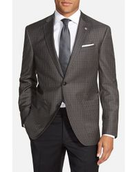 Ted Baker - Gray 'tom' Trim Fit Check Wool Sport Coat for Men - Lyst