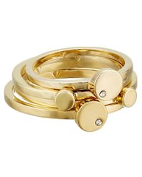 Vince Camuto | Metallic Four Piece Circle Stack Ring Set | Lyst