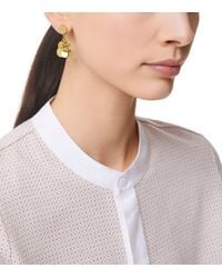 Tory Burch | Metallic Logo Charm Drop Earring | Lyst