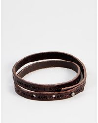 Royal Republiq - Brown Philosophy Leather Wrap Bracelet for Men - Lyst