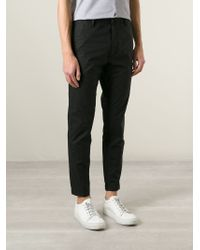 KENZO - Black Slim Fit Chino Trousers for Men - Lyst