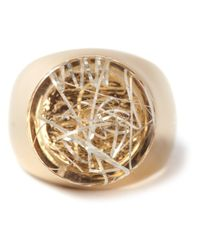 Chloé - Metallic Thick Ring - Lyst