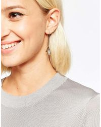 SELECTED - Metallic Courtney Through & Through Marble Ball Back Earrings - Lyst