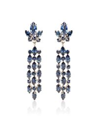 House of Lavande | Blue Chandelier Clip On Earrings | Lyst