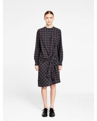 DKNY - Black Pure Half Button Thru Dress - Lyst