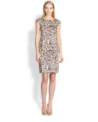 Max Mara | Natural Leopard Sheath Dress | Lyst