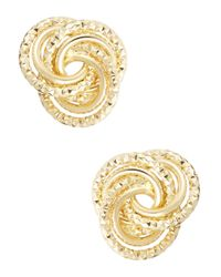 Catherine Stein | Metallic Knot Stud Earrings | Lyst