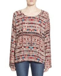 Plenty by Tracy Reese | Multicolor Crepe Roll-tab Sleeve Top | Lyst