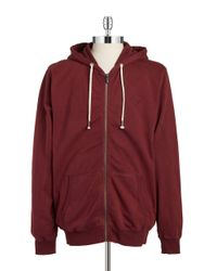 William Rast | Red Washed Linen-blend Hoodie for Men | Lyst