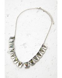 Forever 21 | Metallic Iridescent Charm Necklace | Lyst