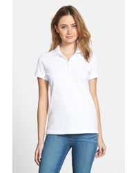Vineyard Vines | White Vineyard 'shoreline' Vines Short Sleeve Polo | Lyst