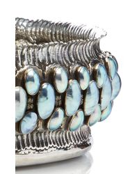 Buccellati - Blue One Of A Kind Sterling Silver And Nacre Pearl Bowl - Lyst