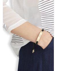 Marc By Marc Jacobs - Metallic Key Items Black Gold Tone Bracelet - Lyst