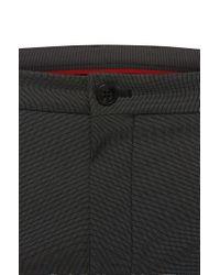 HUGO - Black 'heldor' | Extra Slim Fit, Stretch Cotton Dress Pants for Men - Lyst