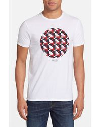 Ben Sherman | White 'Track Geo' Graphic T-Shirt for Men | Lyst