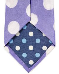 Paul Smith - Purple Paint Effect Polka Dot Silk Tie for Men - Lyst