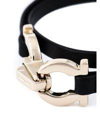 Ferragamo | Black Gancini Bracelet | Lyst