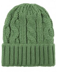 Jules B - Green Cable Knit Wool Hat for Men - Lyst