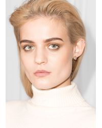 & Other Stories | Metallic Structural Cage Threader Earrings | Lyst