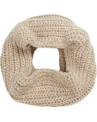 Brunello Cucinelli | Natural Chunky Knit Cashmere Sequin Snood - For Women | Lyst