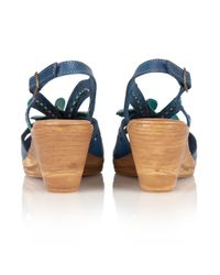 Lotus - Blue Treviso Wedge Sandals - Lyst
