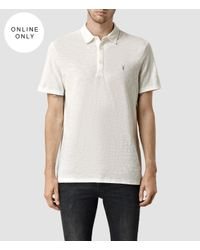 AllSaints | White Soul Polo Usa Usa for Men | Lyst