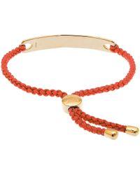 Monica Vinader - Poppy Red Havana Gold-Plated Friendship Bracelet - Lyst