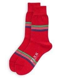 Thomas Pink - Red Ferndale Socks for Men - Lyst