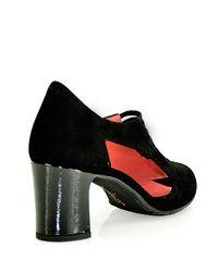 Pas De Rouge | E823 Sandal in Black Suede | Lyst
