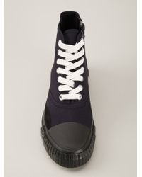 Julien David - Blue Lace-Up High-Top Sneakers for Men - Lyst
