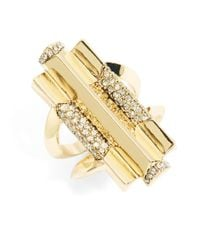 House of Harlow 1960 | Metallic Rhinestone Cocktail Ring | Lyst