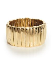 ABS By Allen Schwartz | Metallic Bar Stretch Bracelet | Lyst