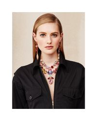 Ralph Lauren - Multicolor Swarovski Teardrop Necklace - Lyst
