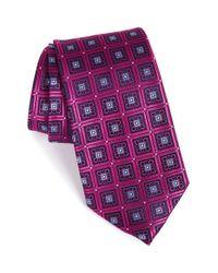 Nordstrom - Purple 'perfect Squares' Silk Tie for Men - Lyst