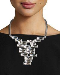Lafayette 148 New York | Metallic Crystal Cluster Bib Necklace | Lyst