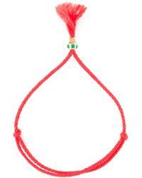 Luis Morais | Red Clover Rounded Tassel Bracelet | Lyst